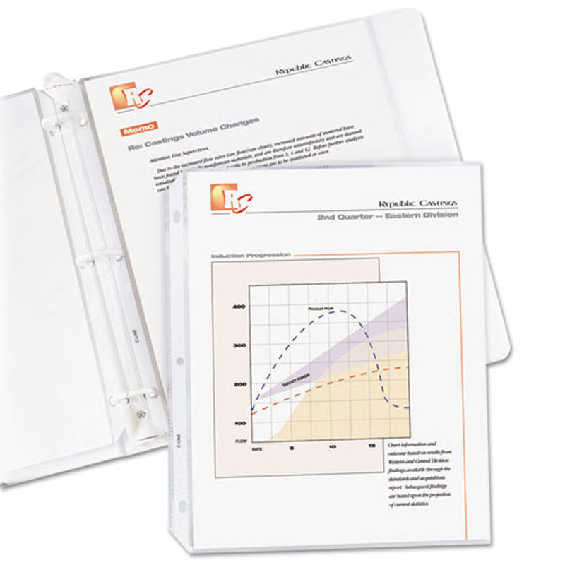 Top-Load Standard Weight Poly Sheet Protectors, Letter, Clear (box of 100)