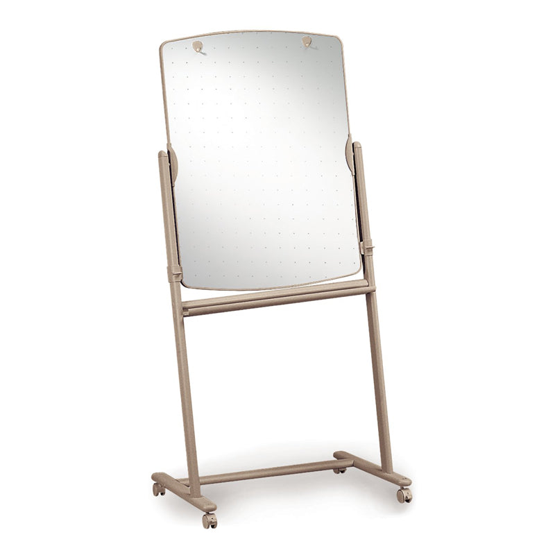 "Total Erase Reversible Mobile Presentation Easel, 31""w x 41""h, w/ Neutral Frame"