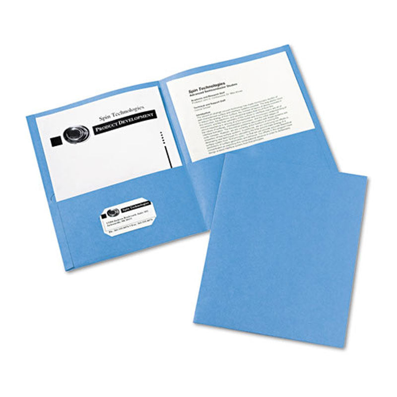 Two-Pocket Embossed Paper Portfolio, Box of 25