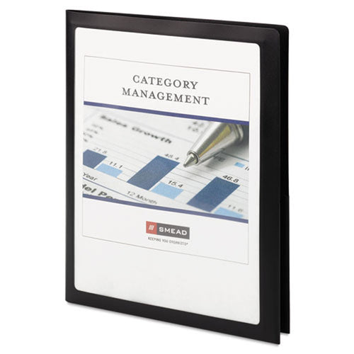 Frame View Poly Twin-Pocket Folders, Letter, Pack of 5