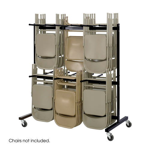 Two-Tier Chair Cart Black