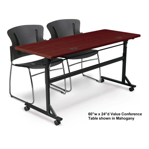 "Value Folding Conference Table, 60""w x 24""d"