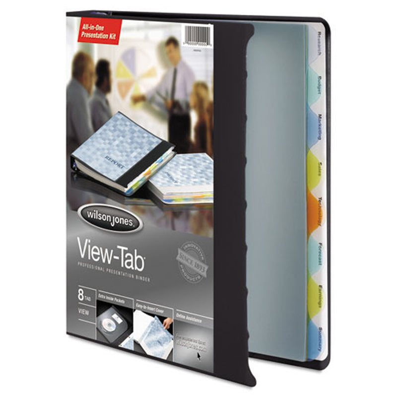 "View-Tab Round Ring View Binder, 1"" w/ 8 Tabs"