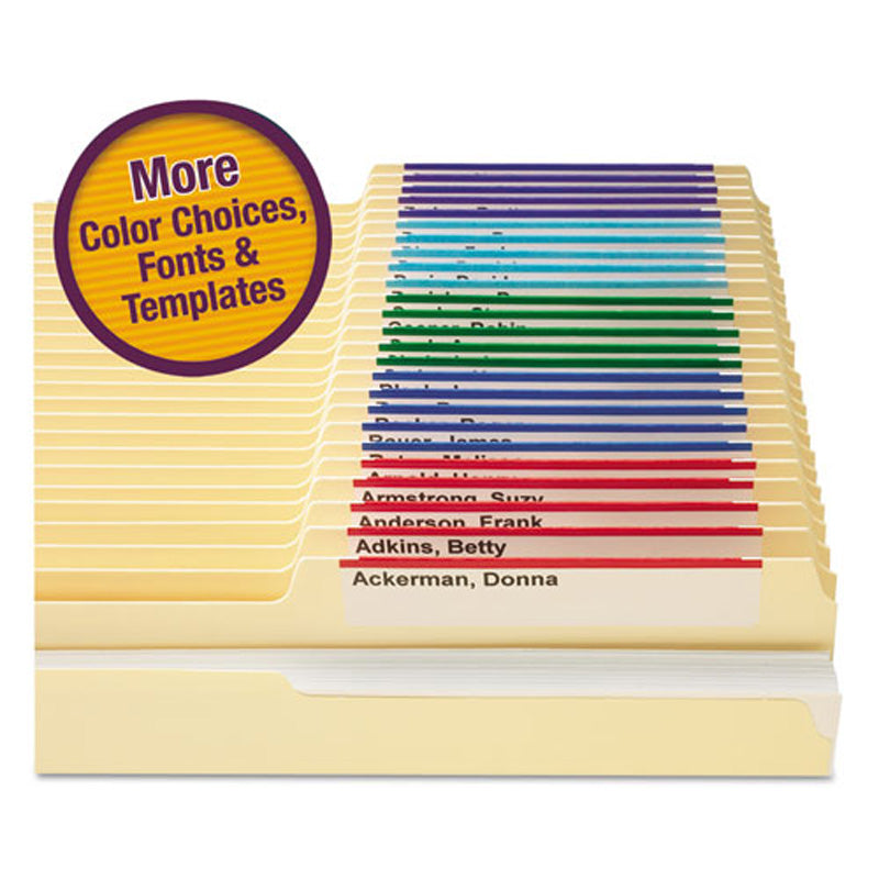 Viewables Top Tab File Folders Refill Pack (set of 160 labels)