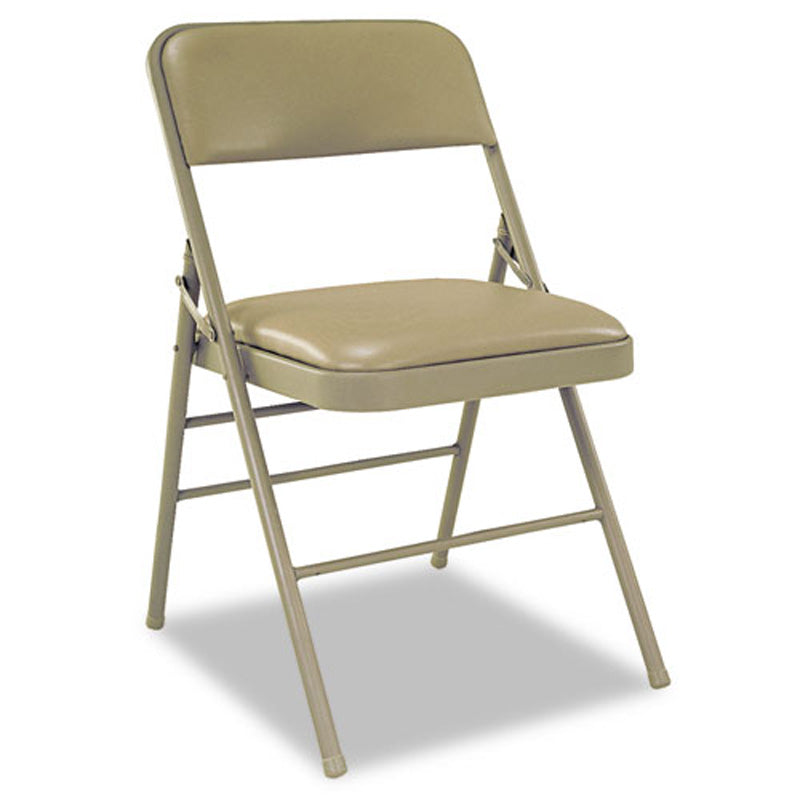 Vinyl Padded Folding Chair Set Of 4 Ultimate Office