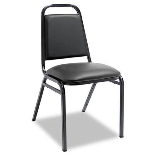 Vinyl Stacking Chairs, Black w/Black (set of 4 chairs)