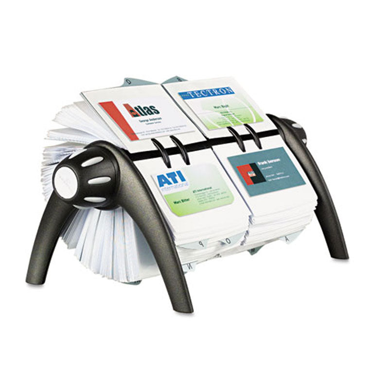 VisiFix Rotary Double Business Card File w/ 300 Pkts | Ultimate Office