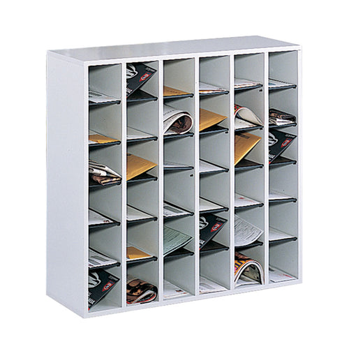 Wood 36 Compartment Mail Sorter