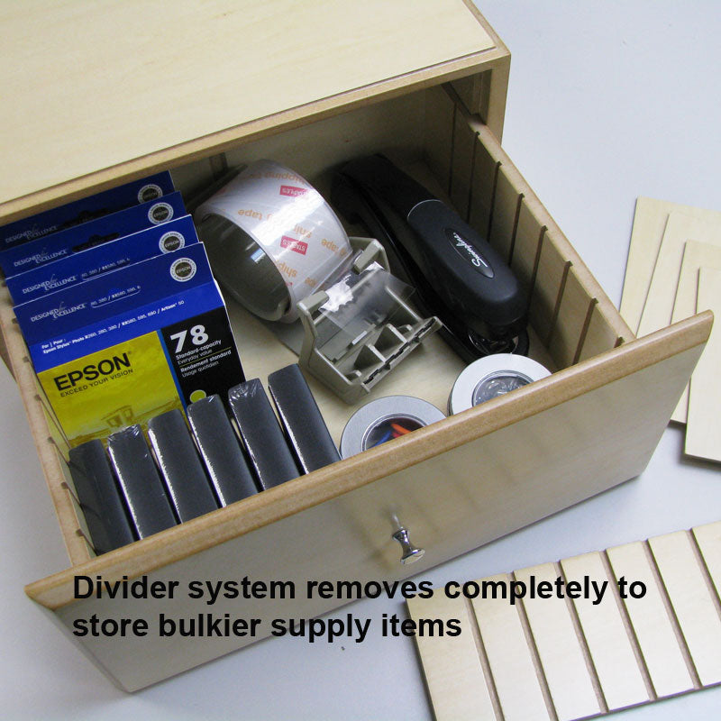 WoodWorx™ Supply/Media Drawer Combo V