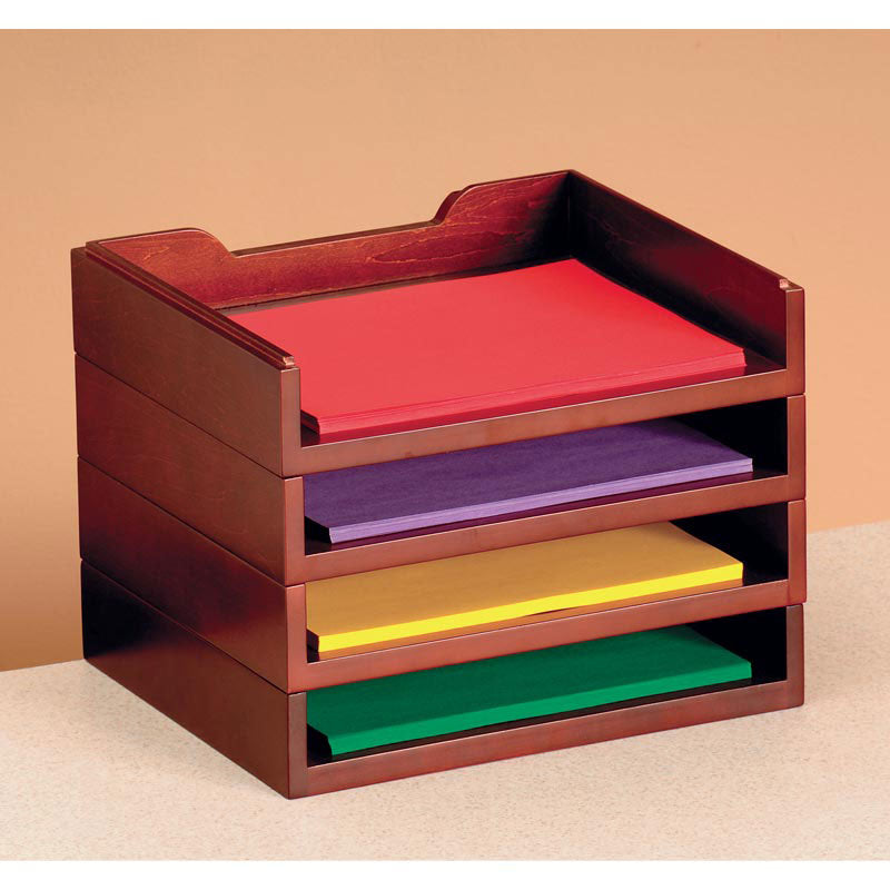 woodworx stacking letter tray