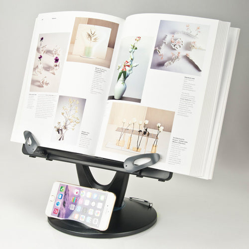 Adjustable Book/Copy Holder with Swivel Base