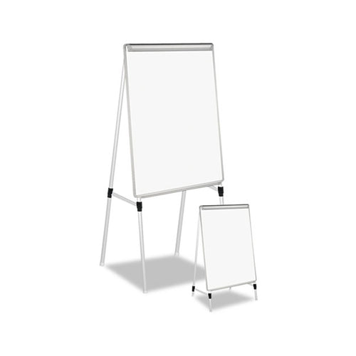 Adjustable Dry-Erase Easel, Silver