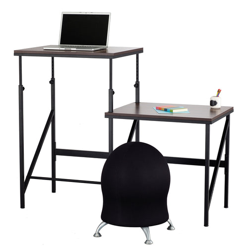 Adjustable-Height Bi-Level Desk