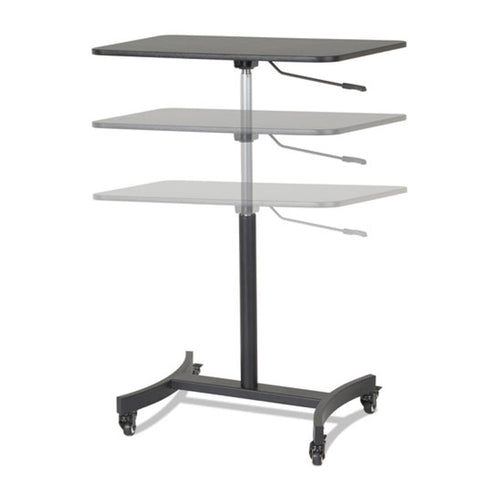 "Adjustable-Height Mobile Sit/Stand Table, 30 3/4""w x 22""d x 29""-44""h"