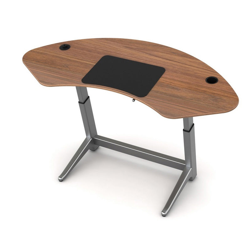 Adjustable-Height Sphere Desk with Adjustable-Angle Worktop