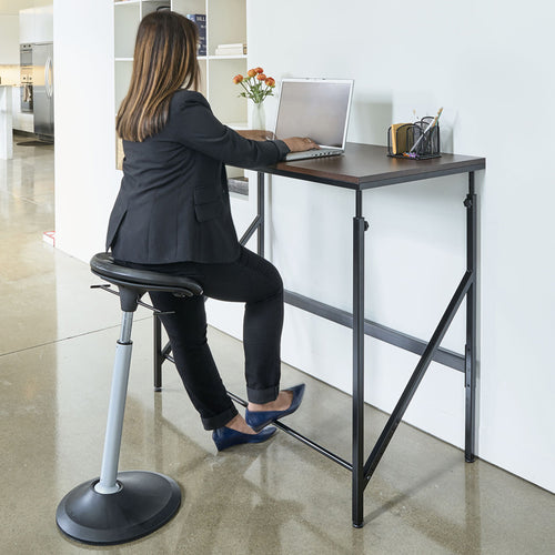 Adjustable-Height Standing Desk, Beech w/ White