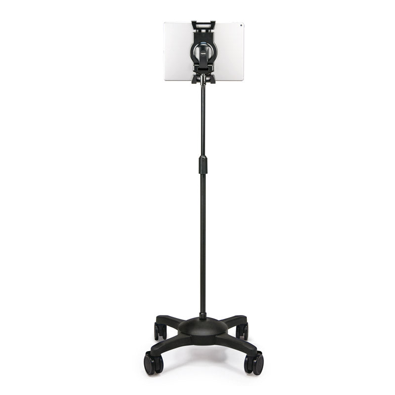 Adjustable-Height Universal Tablet ViewStand w/ Locking Casters