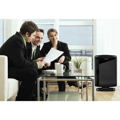 AeraMax Antimicrobial Air Purifier, Hepa & Carbon Filtration, 290 Square Feet Room Capacity, Black