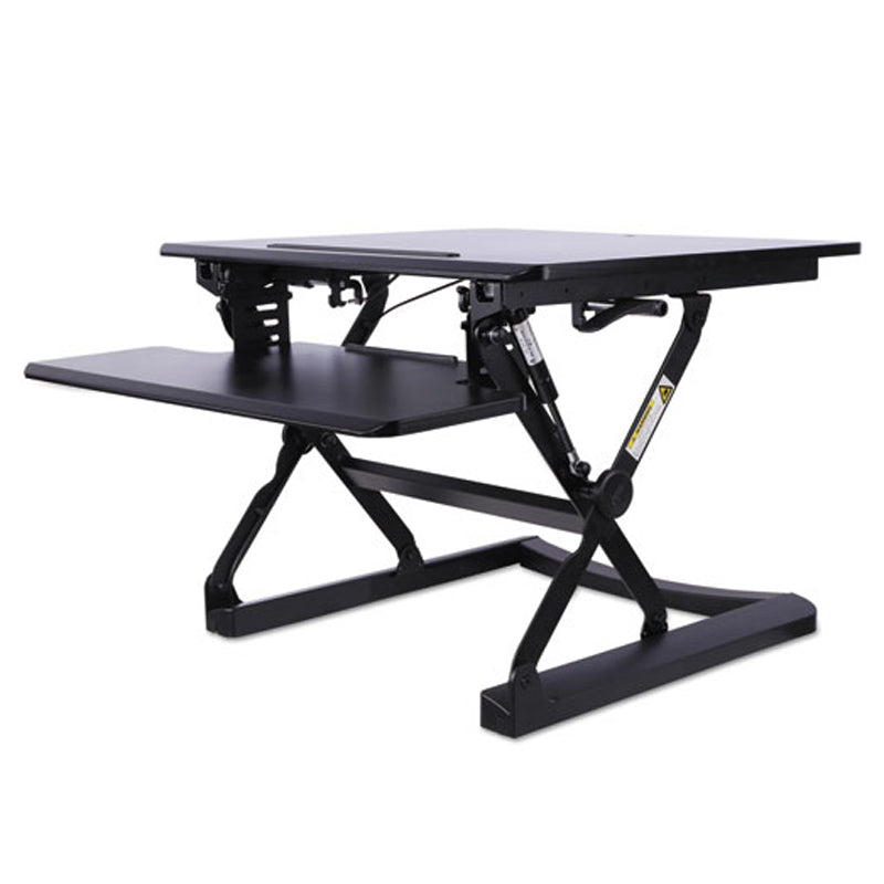 Alera Desktop Sit/Stand Workstation, Black