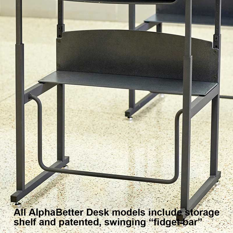 AlphaBetter Stand-Up Desk with Book Box, Standard Top, Beige