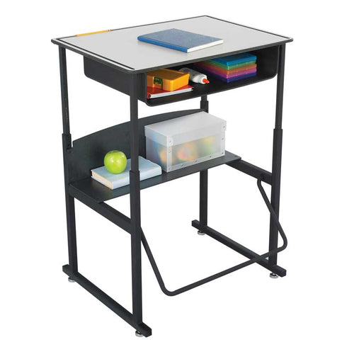 AlphaBetter Stand-Up Desk with Book Box, Premium Top, Gray
