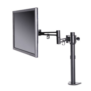 Articulating Monitor Arm w/ Clamp-On Desk Post, Monitors up to 27""