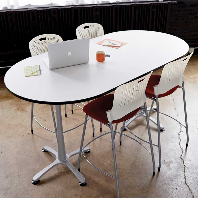 Bistro-Height, Racetrack Teaming Table