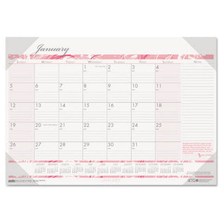 Breast Cancer Awareness Monthly Desk Pad Calendar, 2021