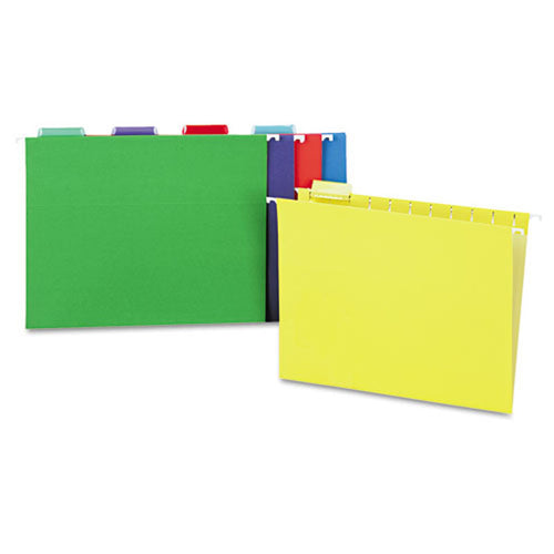 Bright Color Hanging File Folders, 5th-Cut (box of 25)