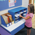 "9-Compartment Classroom Cubby, 16"" x 28 1/4"" x 13"", Blue"