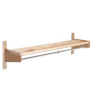CLM Series Hardwood Wall Rack w/Hat Shelf