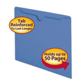Colored Flat File Jackets w/Double-Ply Tab, Letter (box of 100)