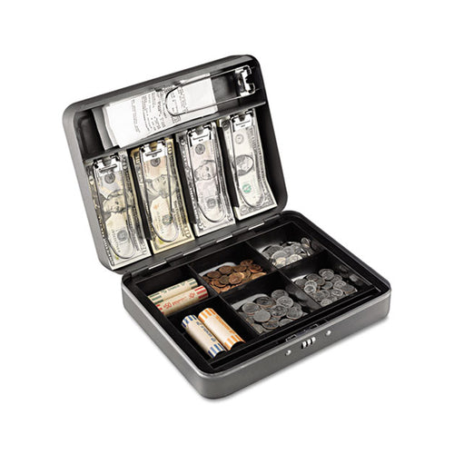Combination Locking Cash Box, Charcoal