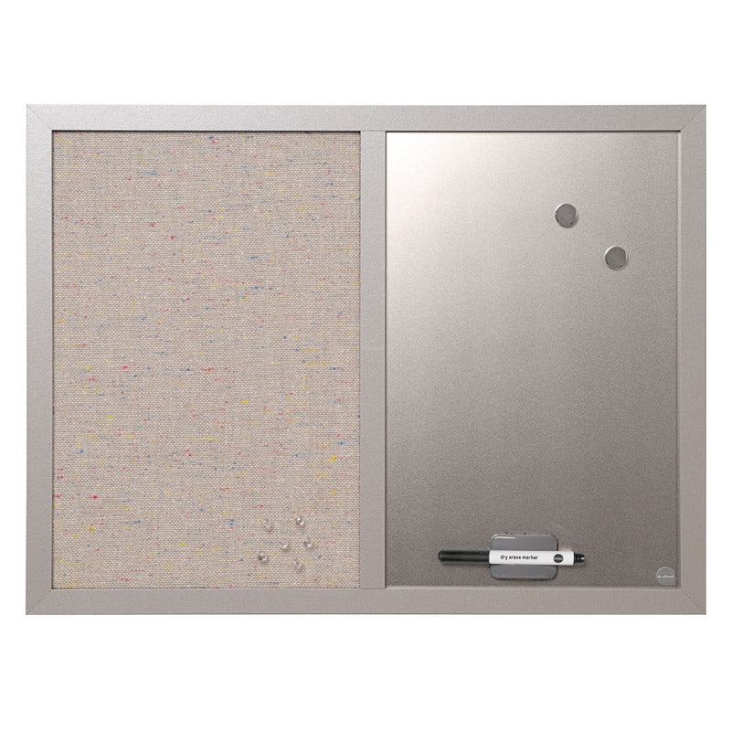 combo magnetic silver board fabric bulletin board ultimate office