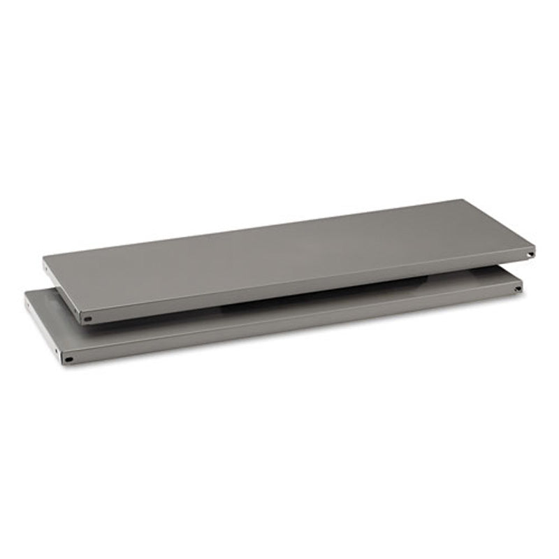 Commercial Steel Shelving Extra Shelves (set of 2), Medium Gray
