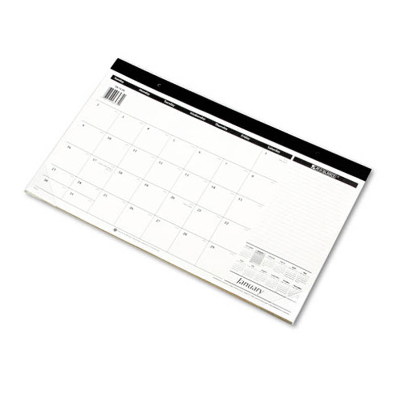 "Compact Desk Pad, 17 3/4"" X 10 7/8"", White, 2019"