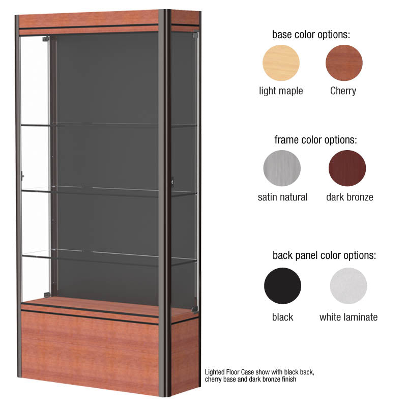 "Contempo 72""h x 14""d Lighted Floor Display Case"