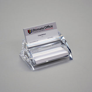 Contoured Acrylic Business Card Holder