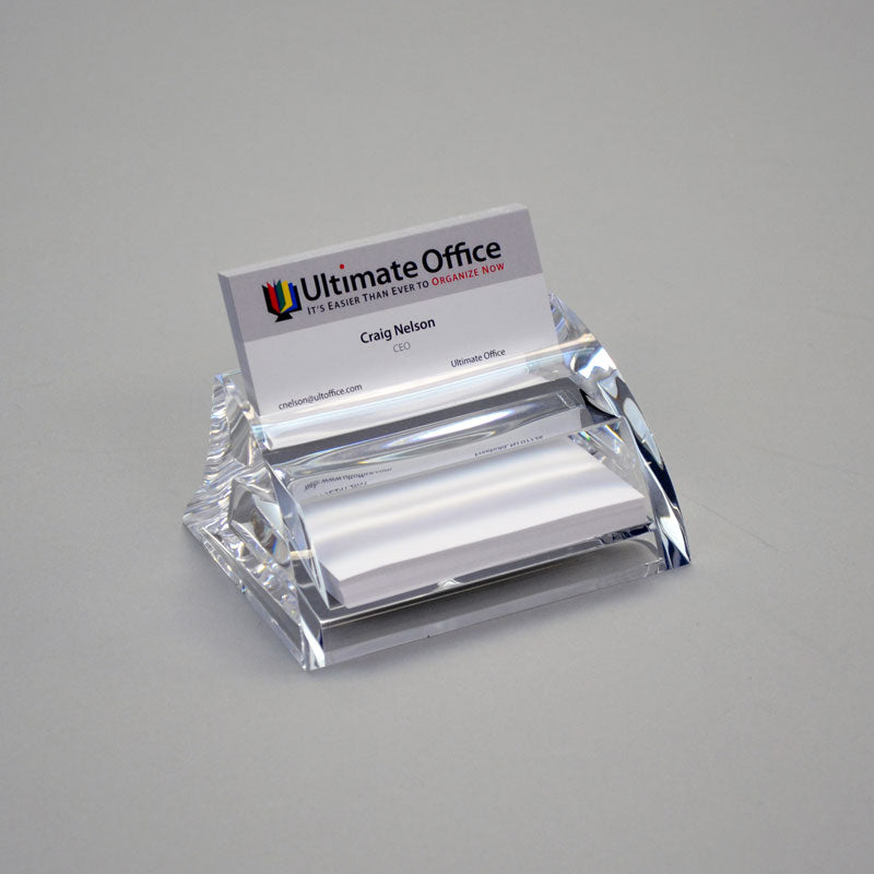 Contoured Acrylic Business Card Holder | Ultimate Office