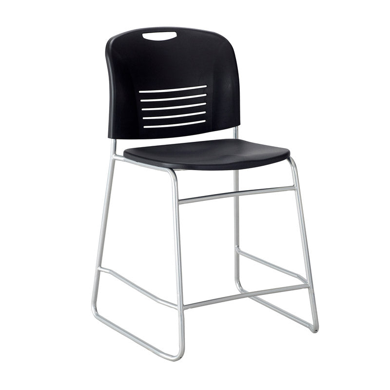 Counter-Height Sled Base Chair w/ Slotted Back