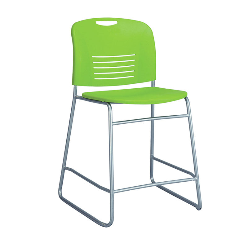 Counter Height Sled Base Chair W/ Slotted Back