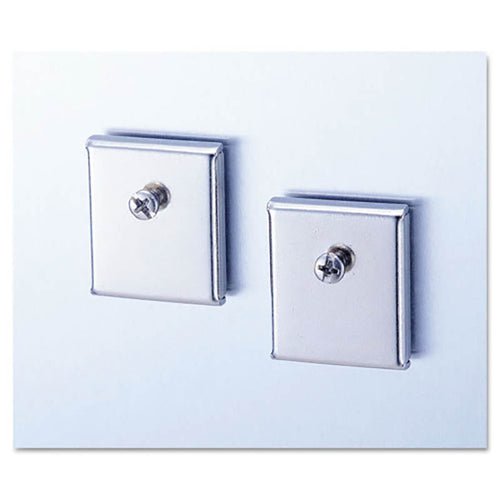 Cubicle Accessory Mounting Magnets (set of 2), Silver