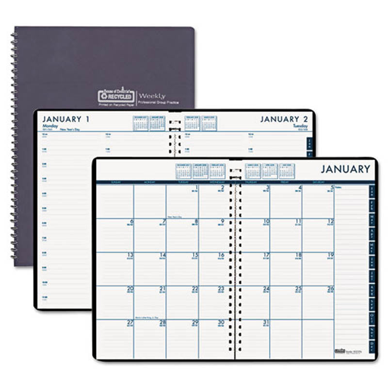 24  7 daily appointment book  monthly planner