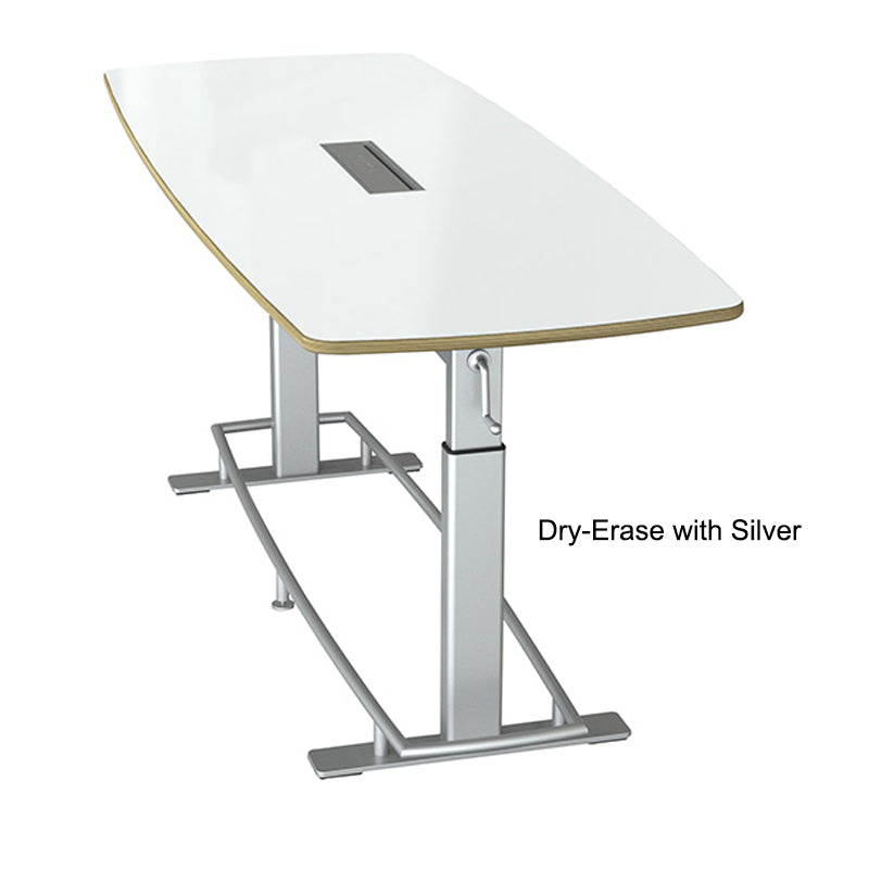 Deluxe Adjustable-Height Teaming Table