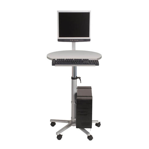 Deluxe Adjustable PC Lectern, Gray