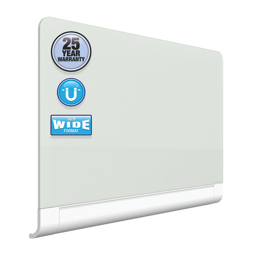 Deluxe Magnetic Dry-Erase Glass Boards w/ Hideaway Tray