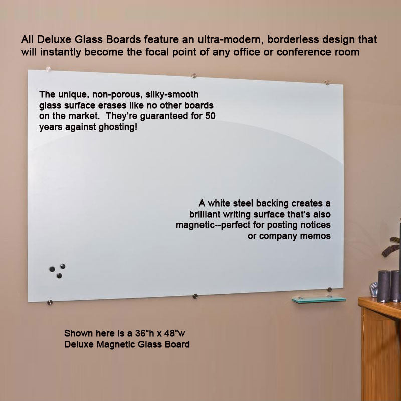 Deluxe Magnetic Glass Dry-Erase Board