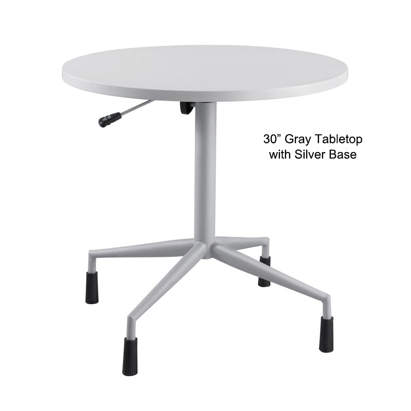 Deluxe Round Table W/ Adjustable Height, Pneumatic Base U0026 Levelers