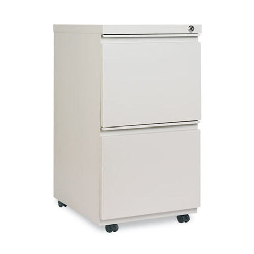 "Double File Drawer Metal Mobile Pedestal w/ Full-Width Pulls, 19 1/8""d"