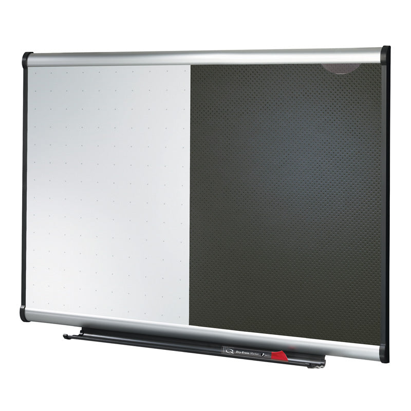 "36"" x 24"" Dry-Erase & Embossed Foam Bulletin Combination Board"